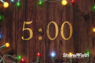 Home for the Holidays Church Countdown Timer