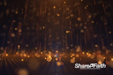 3D Golden Rain Drops Motion Graphic