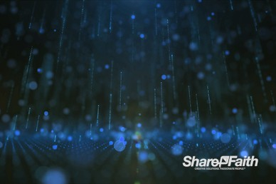 3D Blue Rain Drops Motion Graphic