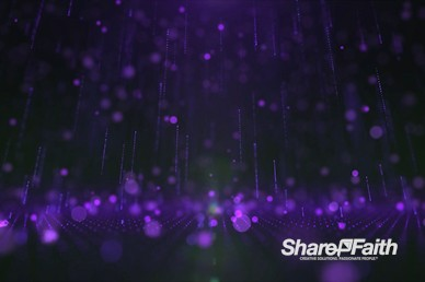 3D Purple Rain Drops Motion Graphic
