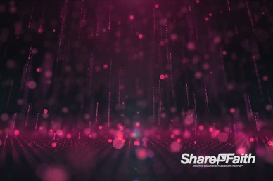 3D Magenta Rain Drops Motion Graphic