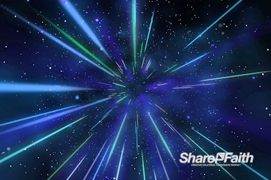 Blue Hyper Space Motion Graphic
