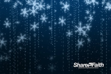 Blue Snowflakes Christmas Motion Graphic