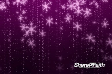 Pink Snowflakes Christmas Motion Graphic