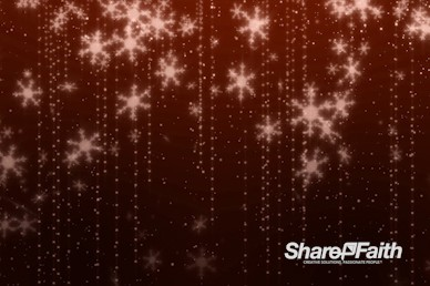 Orange Snowflakes Christmas Motion Graphic