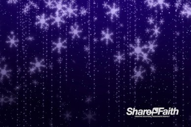 Purple Snowflakes Christmas Motion Graphic