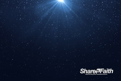 Blue Snowfall Christmas Eve Motion Graphic