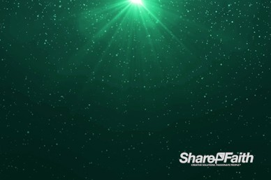 Green Snowfall Christmas Eve Motion Graphic