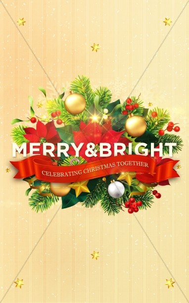 May Your Days Be Merry And Bright Christmas Bulletin