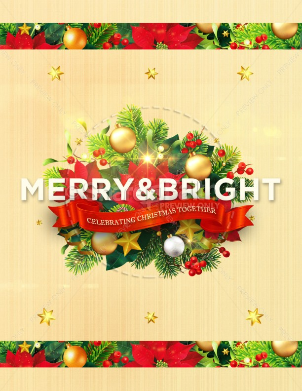May Your Days Be Merry And Bright Christmas Flyer