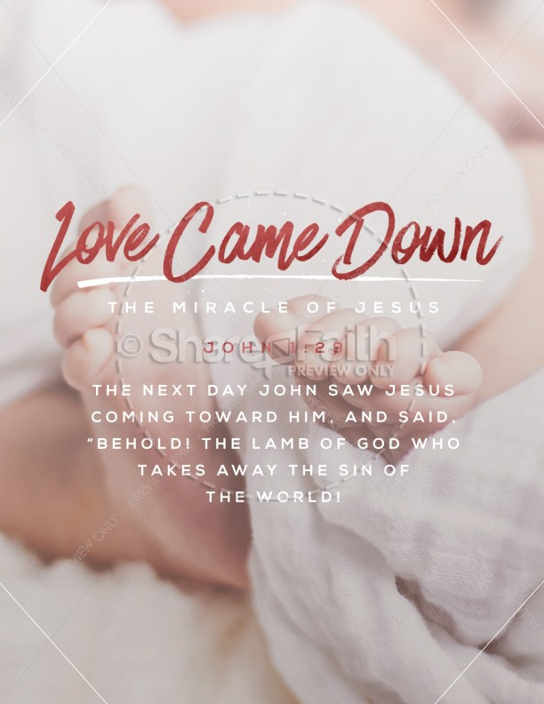 Love Came Down Christmas Flyer | page 1