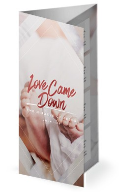 Love Came Down Christmas Trifold Bulletin