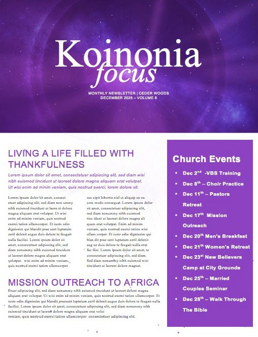 Light of the World Star Christmas Newsletter