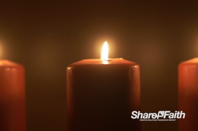 Silent Night Candlelight Worship Video Background