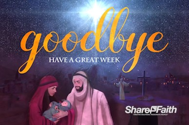A Savior is Born Christmas Goodbye Motion Graphic