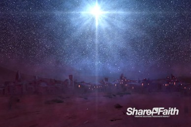 A Savior is Born Christmas Worship Video Loop