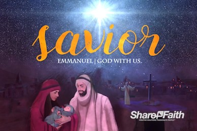 A Savior is Born Christmas Motion Graphic