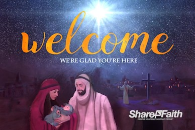 A Savior is Born Christmas Welcome Motion Graphic