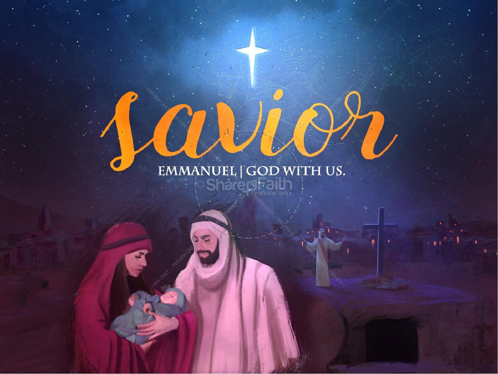 A Savior is Born Christmas PowerPoint | slide 1