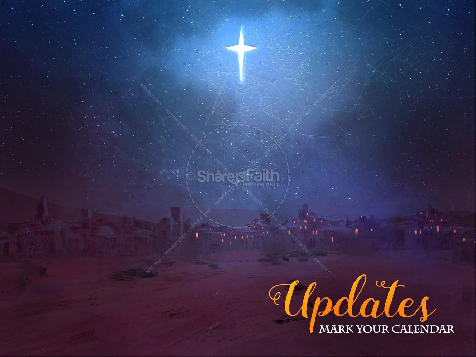 A Savior is Born Christmas PowerPoint | slide 3