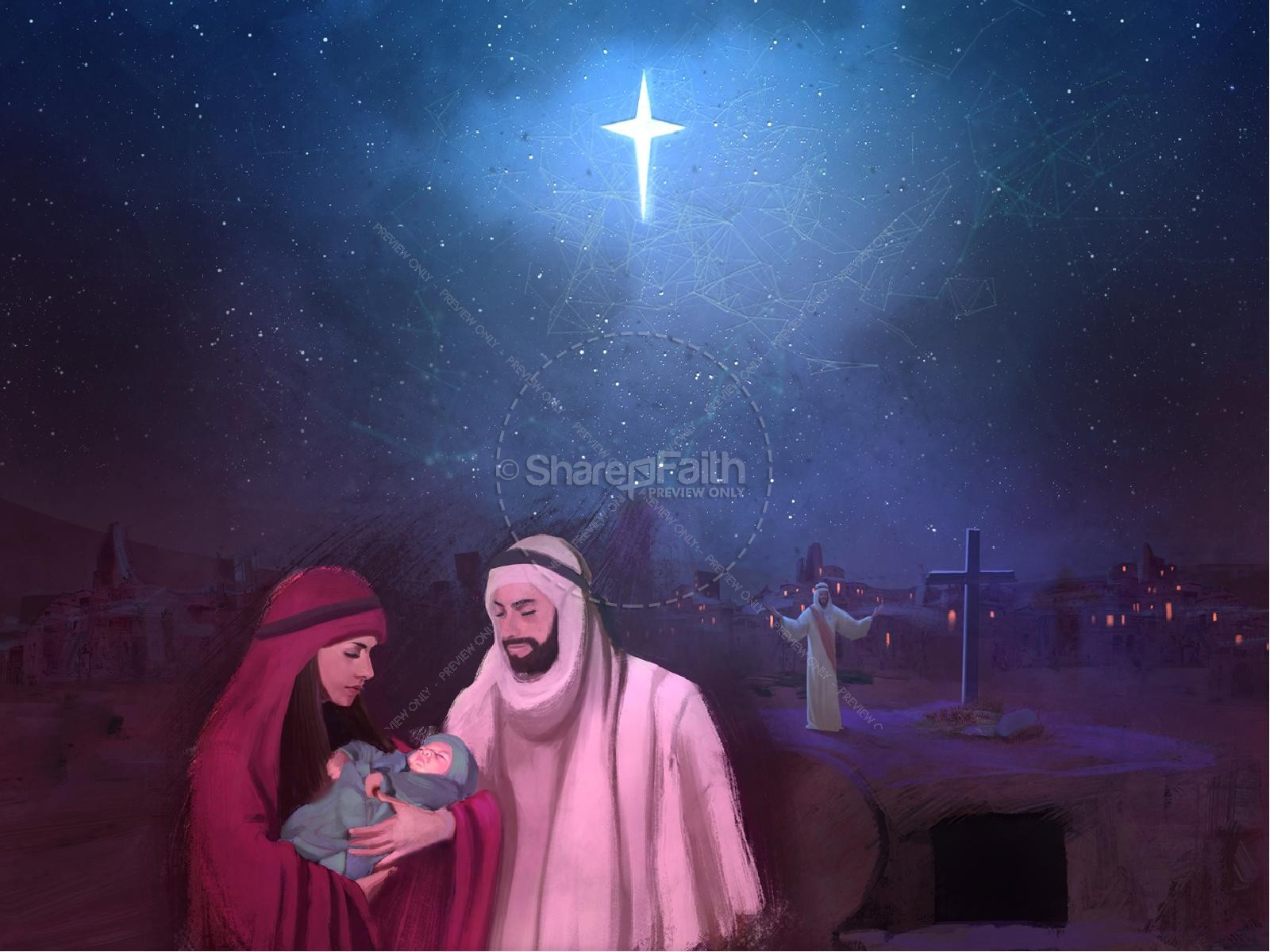 A Savior is Born Christmas PowerPoint
