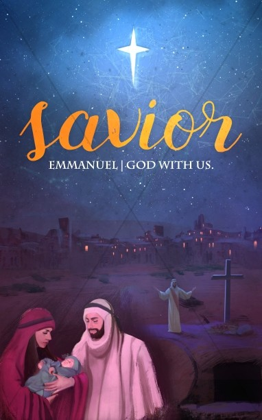 A Savior is Born Christmas Church Bulletin