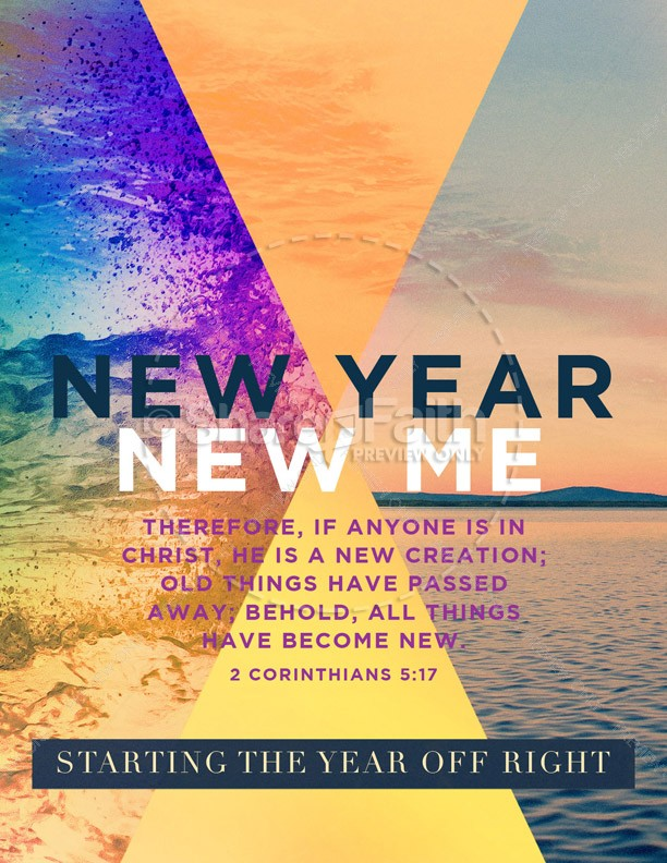 New Year New Me Church Flyer