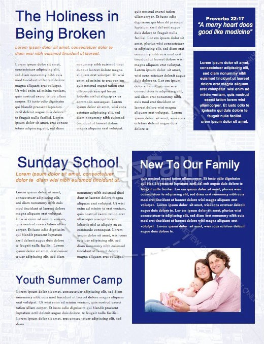 Do Over Church Newsletter Template | page 2