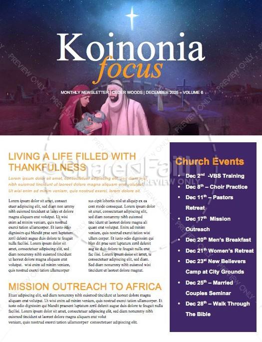 A Savior is Born Christmas Church Newsletter