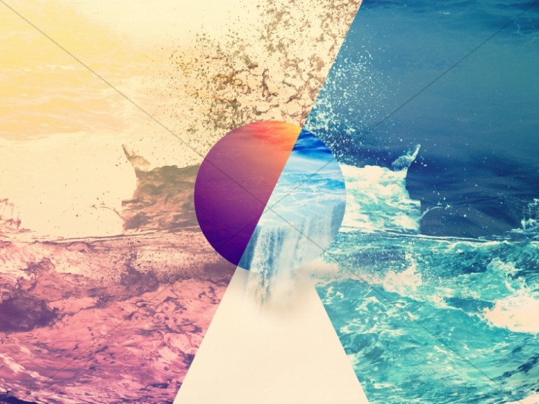 Crashing Waves Abstract Religious Background