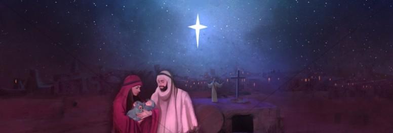 A Savior is Born Christmas Church Website Banner