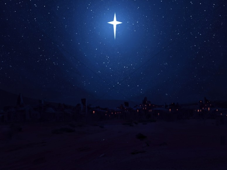 Star of Bethlehem Christmas Worship Background