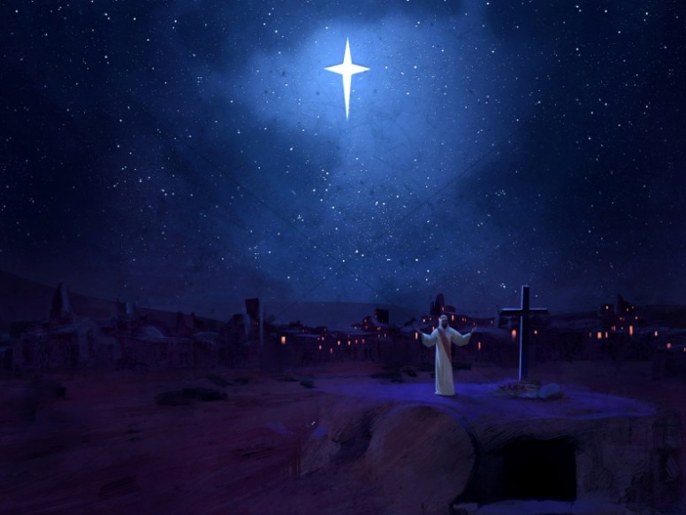 A Savior is Born Christmas Worship Background