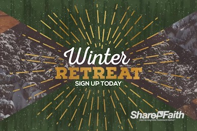 Winter Retreat Church Motion Graphic