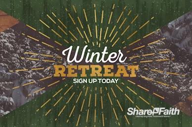 Winter Retreat Church Motion Graphic