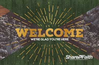 Winter Retreat Church Welcome Motion Graphic