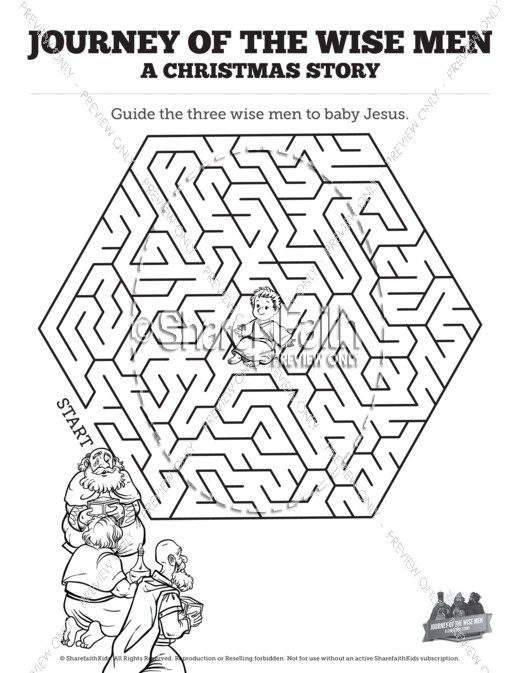 Matthew 2 Journey of the Wise Men: The Magi Christmas Story Bible Mazes