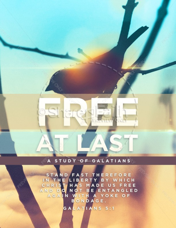 Free At Last Church Flyer