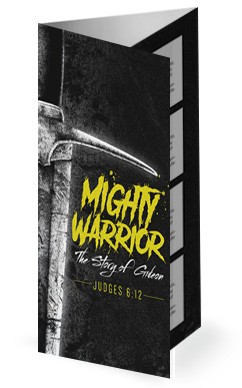 Gideon Mighty Warrior Church Trifold Bulletin