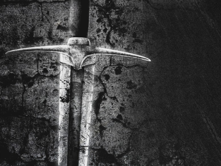 Mighty Warrior Sword Christian Background