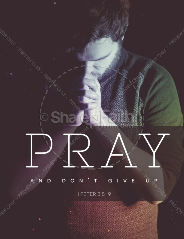 Pray Without Ceasing Church Flyer