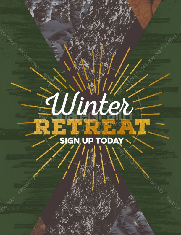 Winter Retreat Flyer Template | page 1