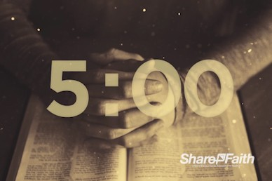 Scripture On Praying Countdown Timer