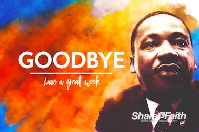 I Have A Dream Martin Luther King Goodbye Motion Graphic