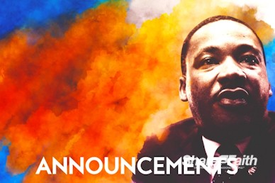 I Have A Dream Martin Luther King Announcements Motion Graphic