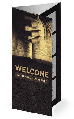 Scripture On Praying Church Trifold Bulletin