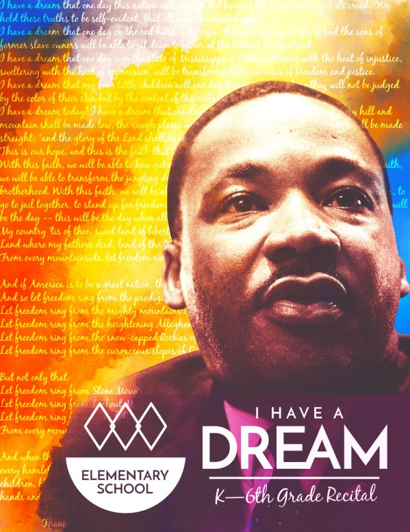 I Have A Dream Martin Luther King Church Flyer