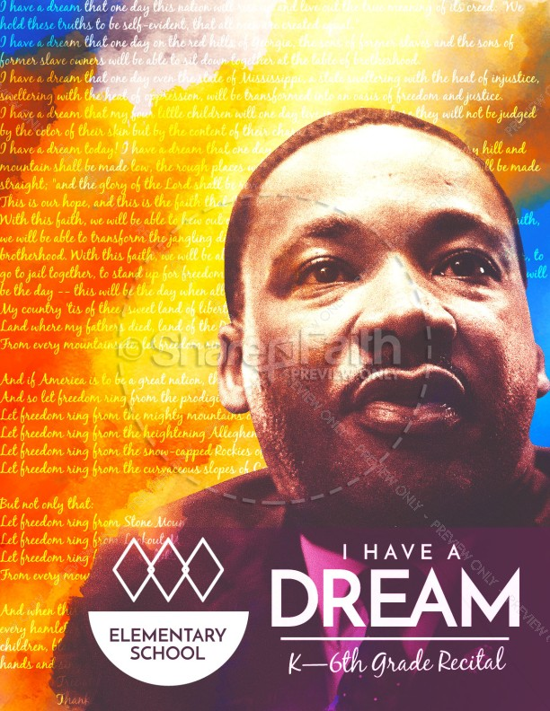 I Have A Dream Martin Luther King Church Flyer | page 1