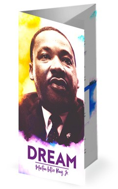 I Have A Dream Martin Luther King Church Trifold Bulletin