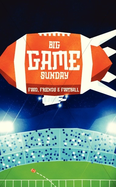 Super Sunday Big Game Church Bulletin